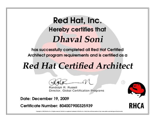 Rhca red hat certified architect for Certified architect